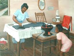 black_woman_ironing