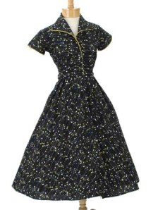 dr2380v1 50s vintage atomic print full dress