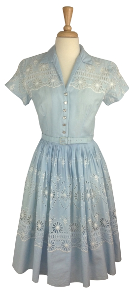 light blue shirtwaist