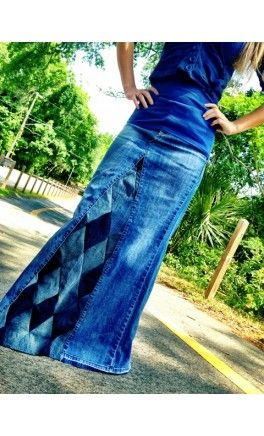 diamond_patchwork_denim_skirt