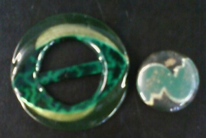 Green Vintage Buckle and Button