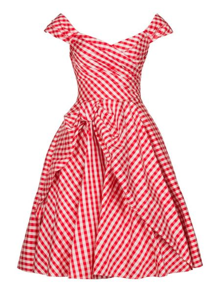 Gingham Dress on Bias