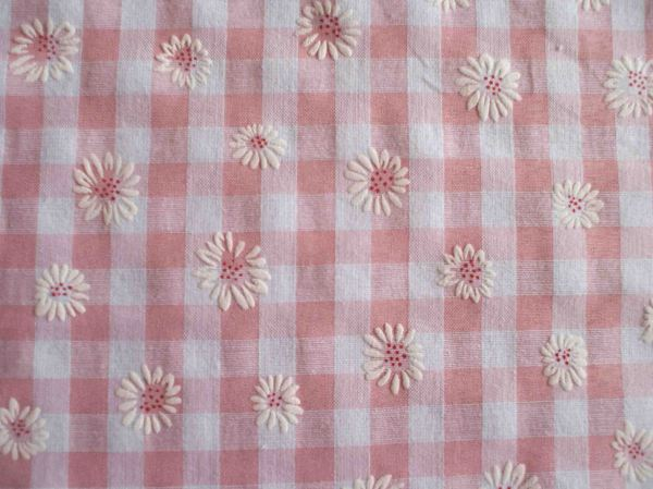 Gingham_Daisy_Fabric