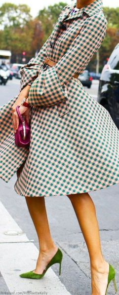Ms. Kelly Gingham Coat