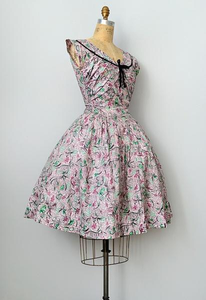 vintage1950sprinteddaydress