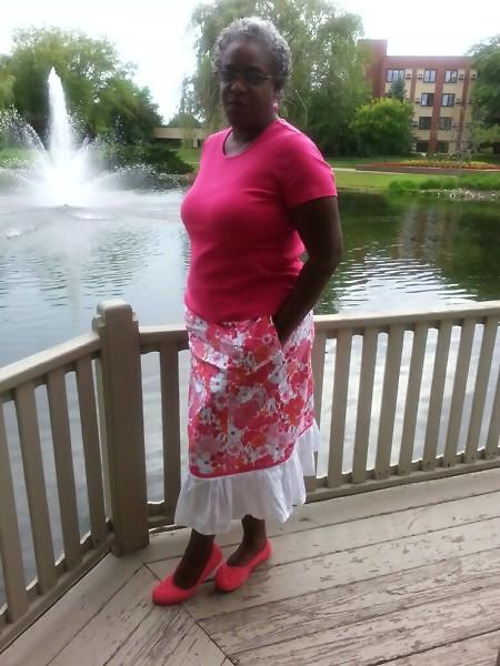 pink white skirt 2