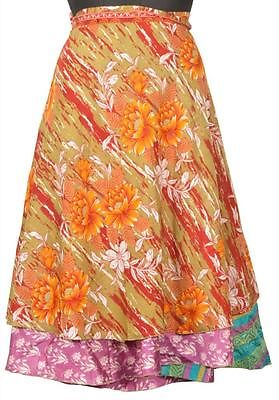Vintage Silk Sari Magic Wrap Dress