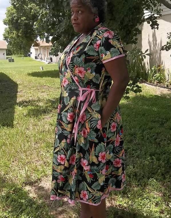 M6959 Wrap Dress Side