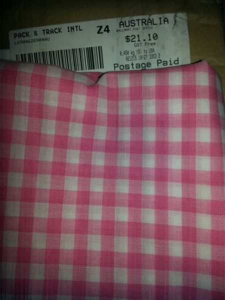 Pink Gingham from Australia