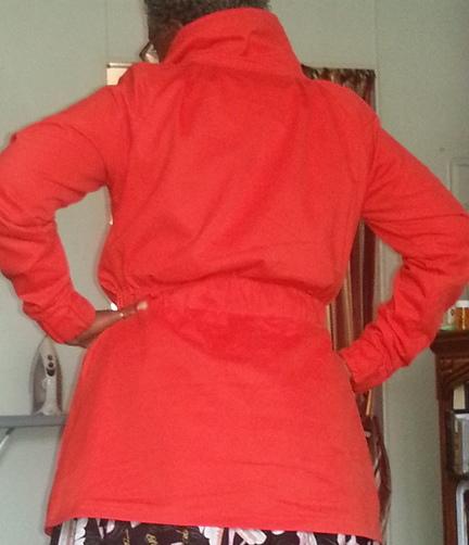Red Minoru Jacket Back