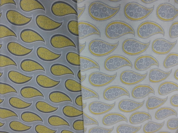 Yellow Grey Paisley