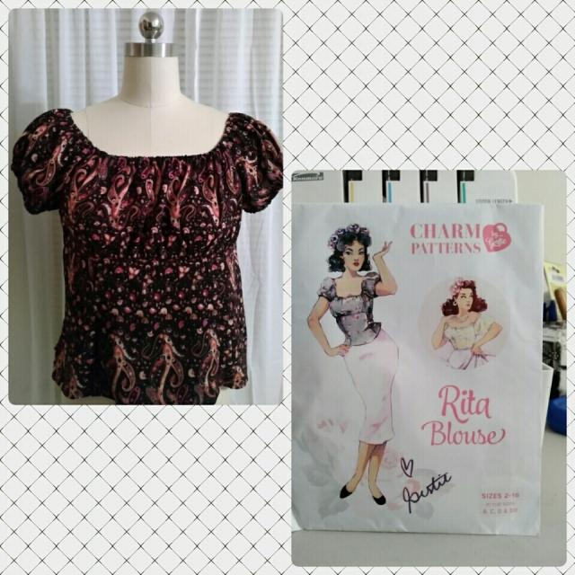 d93efca1c29 Rita Blouse by Charm Patterns – Sew Lyrically Vintage